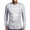 I Support Single Moms Stripper Pole Dancer Funny Saying Mens Long Sleeve T-Shirt