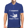 I Support Single Moms Stripper Pole Dancer Funny Saying Mens Polo