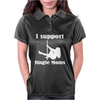 I Support Single Moms Stripper Pole Dancer Funny Saying Womens Polo