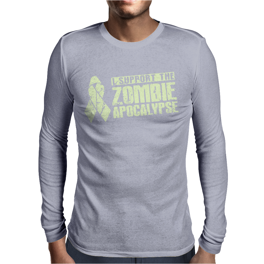 I Support The Zombie Apocalypse Mens Long Sleeve T-Shirt