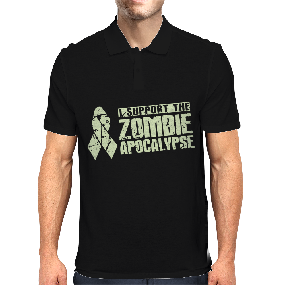I Support The Zombie Apocalypse Mens Polo