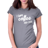 I turn coffee into code Womens Fitted T-Shirt