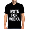 I Vote for Vodka Mens Polo