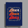I Want Beer (A Celtic Magic Formula) Poster Print (Portrait)
