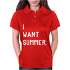 I WANT SUMMER Womens Polo