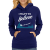 I Want To Believe Christmas Womens Hoodie