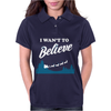I Want To Believe Christmas Womens Polo