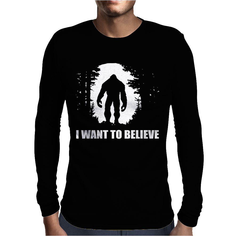 I Want To Believe Mens Long Sleeve T-Shirt
