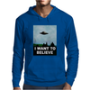 I Want To Believe Xfiles Poster Mens Hoodie