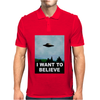 I Want To Believe Xfiles Poster Mens Polo