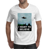 I Want To Believe Xfiles Poster Mens T-Shirt