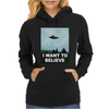 I Want To Believe Xfiles Poster Womens Hoodie
