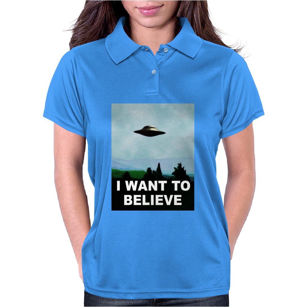 I Want To Believe Xfiles Poster Womens Polo