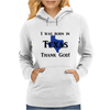 I was born in Texas thank God. Womens Hoodie