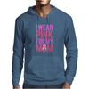 I Wear Pink For My Mom - Breast Cancer Awareness Mens Hoodie