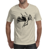 ICARUS THROWS THE HORNS - black Mens T-Shirt