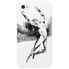 ICARUS THROWS THE HORNS - black Phone Case