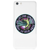 ICARUS THROWS THE HORNS - lavendar circle Phone Case
