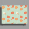 Ice cream and orange pattern Poster Print (Landscape)
