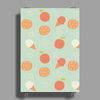 Ice cream and orange pattern Poster Print (Portrait)