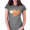 Ice cream and orange pattern Womens Fitted T-Shirt