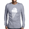 Ice Cream Cone Funny Mens Long Sleeve T-Shirt