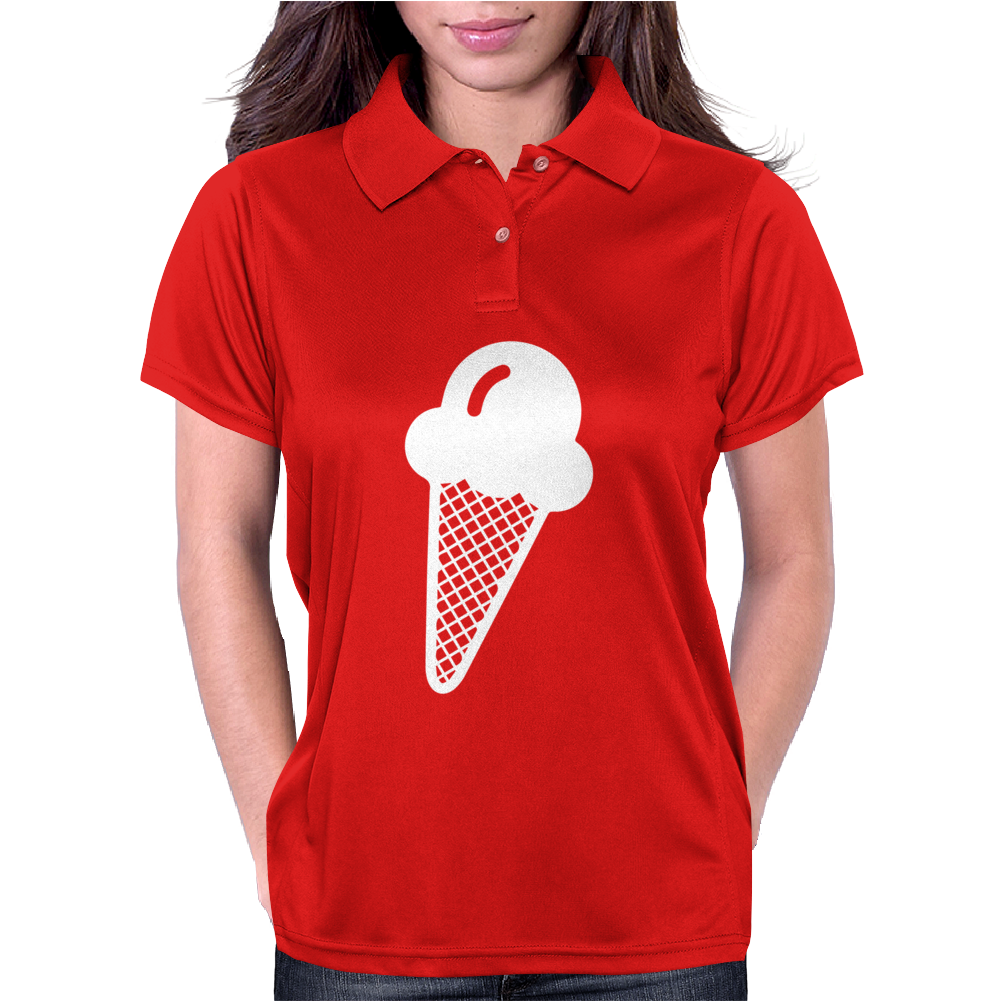 Ice Cream Cone Funny Womens Polo