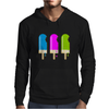 ice lolly popsicle light blue pink green Mens Hoodie