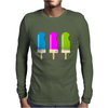 ice lolly popsicle light blue pink green Mens Long Sleeve T-Shirt