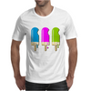 ice lolly popsicle light blue pink green Mens T-Shirt