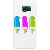 ice lolly popsicle light blue pink green Phone Case