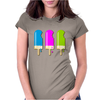 ice lolly popsicle light blue pink green Womens Fitted T-Shirt