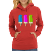 ice lolly popsicle light blue pink green Womens Hoodie
