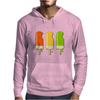 ice lolly popsicle orange yellow green Mens Hoodie