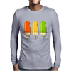ice lolly popsicle orange yellow green Mens Long Sleeve T-Shirt