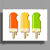 ice lolly popsicle orange yellow green Poster Print (Landscape)