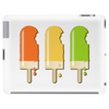 ice lolly popsicle orange yellow green Tablet