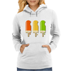 ice lolly popsicle orange yellow green Womens Hoodie