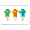 ice lolly popsicle sunglasses green orange light blue Tablet