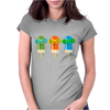 ice lolly popsicle sunglasses green orange light blue Womens Fitted T-Shirt
