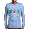 ice lolly popsicle sunglasses light blue pink green Mens Long Sleeve T-Shirt