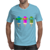 ice lolly popsicle sunglasses light blue pink green Mens T-Shirt