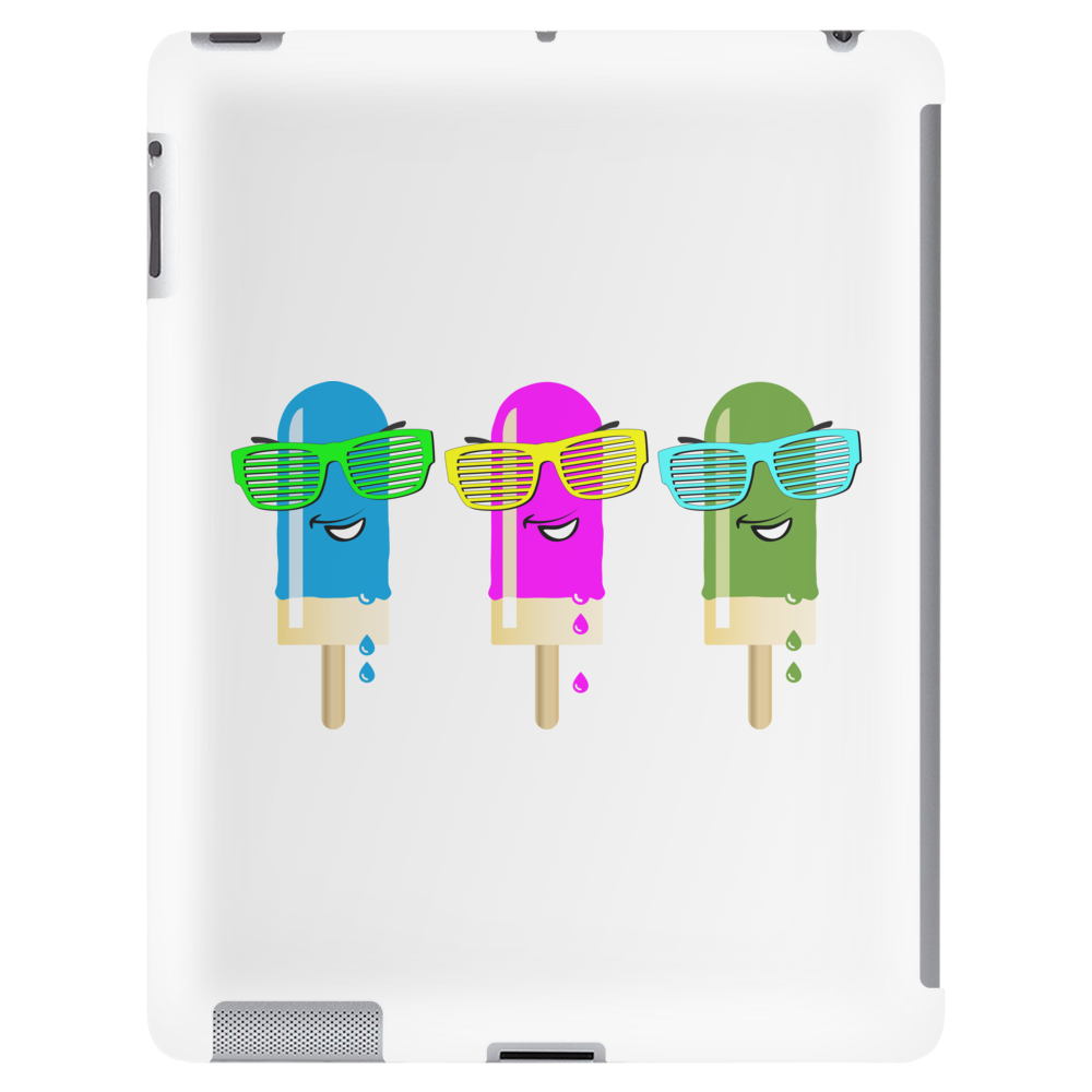 ice lolly popsicle sunglasses light blue pink green Tablet