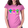 ice lolly popsicle sunglasses light blue pink green Womens Fitted T-Shirt