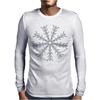 Ice Snowflake Mens Long Sleeve T-Shirt
