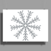 Ice Snowflake Poster Print (Landscape)