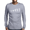 Icke Evolution t shirt - Funny Mens Long Sleeve T-Shirt
