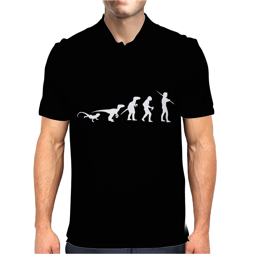 Icke Evolution t shirt - Funny Mens Polo