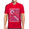 Iconic Christmas Candy Cane Mens Polo