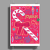 Iconic Christmas Candy Cane Poster Print (Portrait)